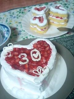 三十路祝いケーキ