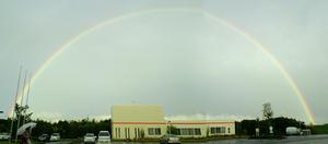 でっかい虹!