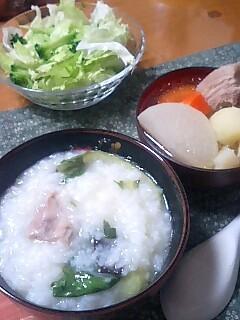 コンソメ煮と中華がゆ