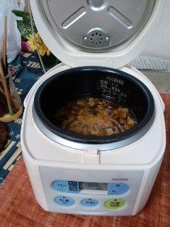 タコごはん15炊飯器で炊く